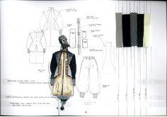 Fashion Sketchbook - post-apocalyptic fashion design; fashion drawings & fabrics // Victoria Salmon