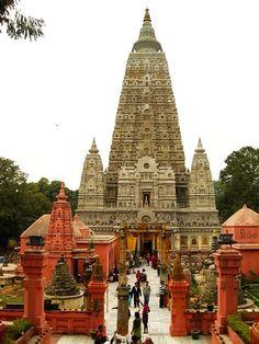 Mahabodhi Temple Complex at Bodh Gaya #India.....Tumblr