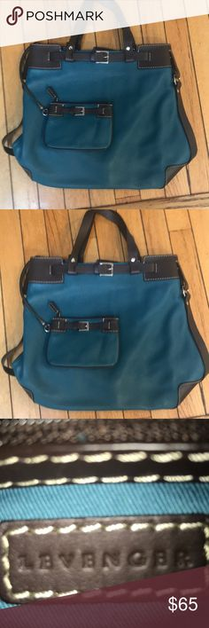 NWOT LEVENGER TEAL AND BROWN PEBBLED LEATHER BAG SUPER COOL HANDBAG BY LEVENGER . Love the mixture of the teal pebbled leather with brown accents. VERY EQUESTRIAN LOOKING BAG. Never used . Usually retails for 495 -585 . My price is fantastic. Carry something unique that is classic and different! levenger Bags Totes