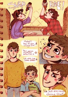 Gravity Falls and Over The Garden Wall Human AU! In short: they are all normal people, and magic stuff doesn't happen every day. He and Dipper used to. Gravity Falls Crossover, Gravity Falls Dipper, Fandom Crossover, Cartoon Shows, Cartoon Art, Garden Falls, Desenhos Gravity Falls, Fall Memes, Friends Series