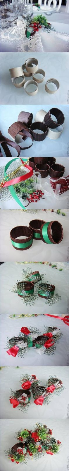 How to make toilet paper napkin rings diy christmas diy crafts do it yourself diy projects napkin rings