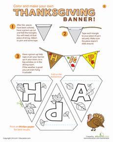Printable #Thanksgiving Banner