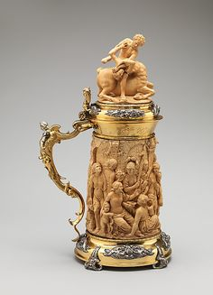 Late 17th century English Tankard at the Metropolitan Museum of Art, New York - This was made based off an Augsburg original.
