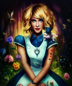 Alice in Wonderland Painting Print on Wrapped Canvas