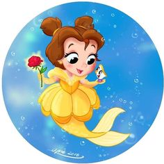Finally here is the next Disney Mermaid you voted for from with little Hopefully you like them 😘💛💛… Disney Belle, Disney Diy, Disney Dream, Walt Disney, Elsa Mermaid, Mermaid Disney, Disney Princesses As Mermaids, Mermaids And Mermen, Baby Disney Characters