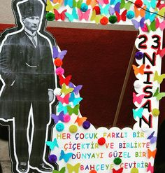 23 Nisan çerçevemiz Art Rules, Greeting Cards Handmade, Art Lessons, Children, Kids, Origami, Diy And Crafts, Mandala, Preschool