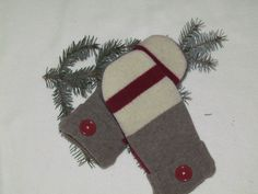 Wool Mittens from Recycled Wool Sweaters. $23.00, via Etsy.
