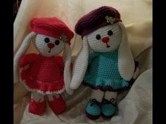 conejita facil de hacer 1 de 2 - YouTube Couture, Christmas Stockings, Diy And Crafts, Dolls, Holiday Decor, Sleeper Steps, Amigurumi Patterns, Crocheted Toys, Rabbits