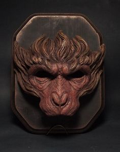 SARU mask painted monkey mask monkey king by SHsculpturestudio