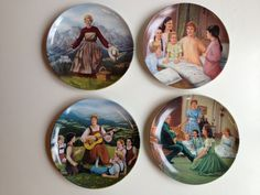 Set of 4 Vintage Sound of Music Collectors Plates