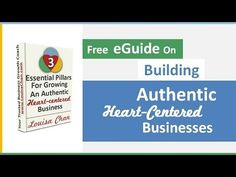 3 Pillars For Building Authentic, Ethical Businesses - Free eGuide Business Ethics, Purpose, Personal Care, Reading, Heart, Free, Self Care, Personal Hygiene, Reading Books