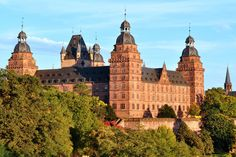 In Germany, you can find many amazing castles like the Johannisburg Castle in Aschaffenburg