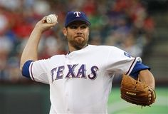 Texas Rangers' Colby Lewis delivers to the Seattle Mariners in the first inning of a baseball game Wednesday, April 11, 2012, in Arlington, Texas. (AP Photo/Tony Gutierrez) game 6