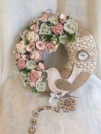 Felt Flower Wreaths, Deco Mesh Wreaths, Easter Wreaths, Summer Door Wreaths, Fall Wreaths, Christmas Wreaths, Fabric Wreath, Diy Wreath, Couronne Shabby Chic
