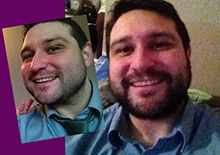 Martin grew a beard for us and raised over £130!