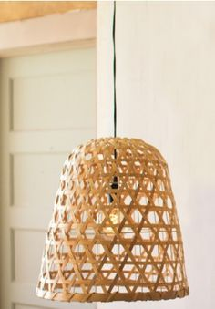 Pendant Light, Spotlight Pendants, Light Fixture, Split Wood, Wicker, Tropical, Cottage Chic, French Country, European, Farmhouse and Barnyard Decor, Dome, Nautical, Boho Chic