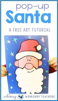 This cute step by step Santa craft is perfect for Christmas! Add this to your Christmas art and crafts files to use each year for a festive Grade one or grade two classroom.