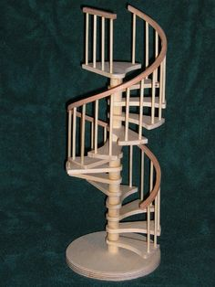 love this dollhouse miniature spiral stairs