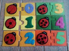 Купить развивающие цифры из фетра - разноцветный, развивающая игрушка, развивающие игрушки, развитие мелкой моторики