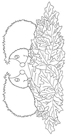 hedgehog coloring pages - Artwork Coloring Pages