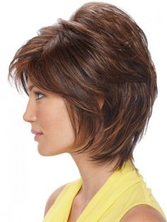 Short Sassy Shag With Soft Layers Human Hair Wig