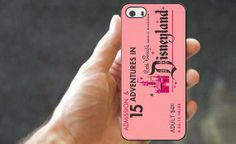 Pink Disneyland Ticket Iphone Case... Only $6.50 with shipping! I need this!