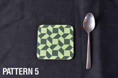 COASTER SET Abstract Pattern. A Set of Four, Six or Eight Round Coasters.  Dining Table Dining Decor Optional Soft Green Backing.DIA90 by MillHillSublimation on Etsy