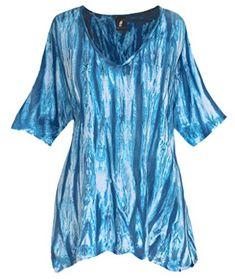 c35fd1cd44b Plus Size Top 1x 2x 3x | Tunic Tops for Plus Size Women, Handmade Tie Dye  Cotton