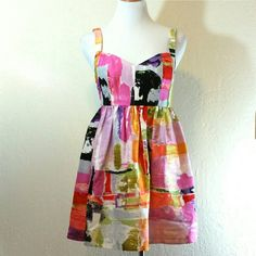 Ali Ro Water Color Dress Ali Ro Water Color Dress. Fully lined. Back zip. Abstract water color print. Silk shell. Acetate lining. EUC   No Trade or PP  Offers Considered  Bundle discounts Ali Ro Dresses