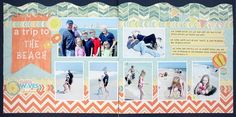 A Trip to the Beach 2-page #Scrapbook Layout Project Idea from Creative Memories  http://www.creativememories.com