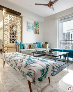 Beautiful House Design: in New Town Heights beautiful house design - House Beautiful Living Room Sofa Design, Home Room Design, Home Living Room, Home Interior Design, Living Room Designs, Living Room Decor, Indian Living Rooms, Ethnic Home Decor, Elegant Home Decor