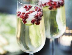 Martini Asti med limefrugt og granatæble