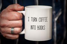 Writer Mug Gift for Writer I Turn Coffee into by PhotoCeramics