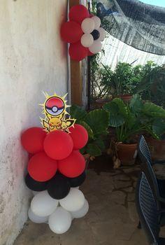 Pokemon fiesta, decoración con globos Pikachu