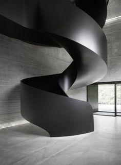 Ideas Black Stairs Modern Stairways Staircase Design For 2019 Architecture Details, Interior Architecture, Interior Design, Staircase Architecture, Chinese Architecture, Futuristic Architecture, Black Stairs, Metal Stairs, Loft Stairs