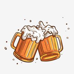 Adobe Photoshop, Beer Clipart, Beer Decorations, Summer Clipart, Beer Art, Bar Logo, Logo Food, Caricature, Illustration