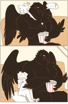 Bird People, Cute Dragons, Shy Girls, Cute Comics, Cool Sketches, Kawaii Drawings, Gay Art, Anime Comics, Animals