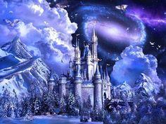 FAIRYTALE CASTLE Desktop Nexus Wallpapers Cross paintings Fantasy castle Diamond painting