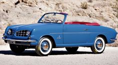1953 Fiat's 'Nuova 1100' two-seater prototype by Michelotti