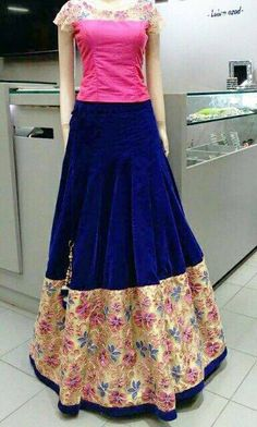 Mahi Fashion ~ Products ~ Latest Fashionable New Arrival Full Long Skirt With Top Choli Dress Lehenga ~ Shopify Salwar Designs, Blouse Designs, Dress Designs, Long Skirt And Top, Long Skirts, Choli Dress, Dress Skirt, Indian Skirt, Long Gown Dress