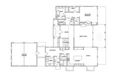 Coastal Living Hamptons Showhouse. Floor plan: first floor.