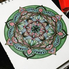 The past few days we have been getting the most incredible user submissions! This beauty is from J Fran Blackmon who does a fantastic job with each of her designs. Can't wait to share more #adultcoloringpages #mandala #mycolorit