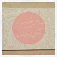Hazel & Bright Bridesmaids cards