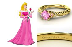 Aurora wedding ring - Just because she's always been my favorite Disney princess(: Disney Princess Engagement Rings, Disney Rings, Disney Jewelry, Baby Dolls For Kids, Wedding Types, Wedding Ideas, Wedding Stuff, Princesas Disney, Disney Love