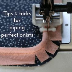 Piping is one of my favorite notions to add a special touch to a garment. I've used it very oft…
