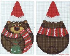 Новогодние игрушки для любящих вышивать / Вышивка / Схемы вышивки крестом, вышивка крестиком