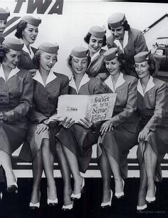 Always wanted to be a flight attendant. Beautiful ladies