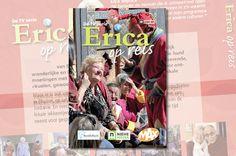 Ontwerp DVD Erica op Reis. iov Omroep MAX, verzorgd door Reclamebureau Holland. Reclamebureaus en ontwerpbureaus