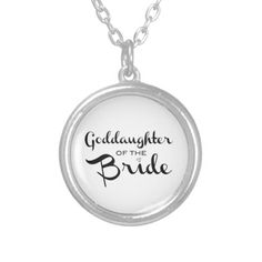 Shop Grandmother of Bride Black on White Silver Plated Necklace created by BetterOffWed. Bride Necklace, Cute Necklace, Dog Tag Necklace, Wedding Necklaces, Jewelry Necklaces, Pendant Necklace, Daughter Of God, Personalized Necklace, Round Pendant
