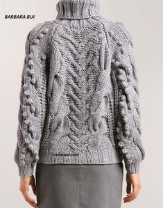 Свитер из толстой пряжи от BARBARA BUI - Вяжем с Лана Ви Beginner Crochet Tutorial, Crochet For Beginners, Thick Sweaters, Hand Knitted Sweaters, Knitwear Fashion, Knit Fashion, Knitting Wool, Hand Knitting, Crochet Tablecloth